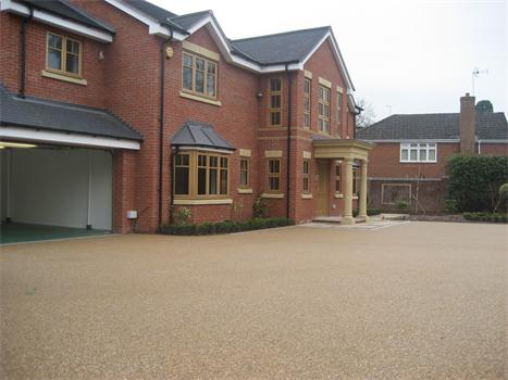 Alternative paving solution at new executive homes