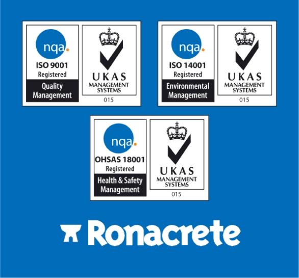 Ronacrete accreditations