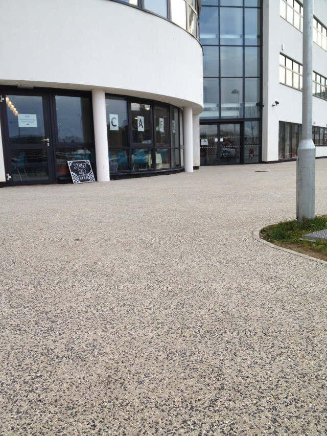 RonaDeck Resin Bound Surfacing around Scarborough building
