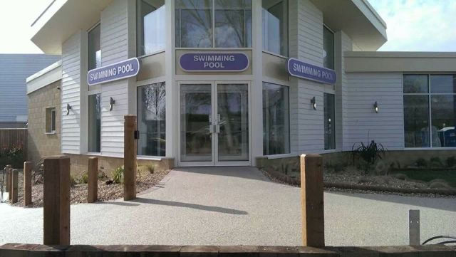 Resin bound permeable surfacing at Burnham on Sea holiday village