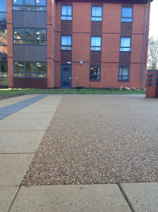 Permeable paving at University of Birmingham